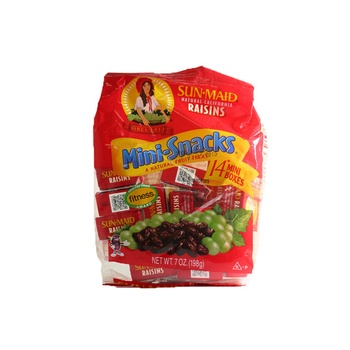 Sunmaid Raisins Mini Snack Bag 198g