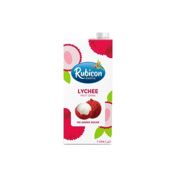 Rubicon Lychee Juice Drink No Sigar Added 1ltr