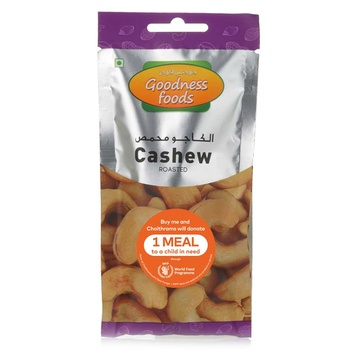 Goodness Foods Cashew Roasted Packet 40g
