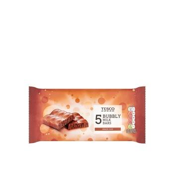 Tesco Bubbly Milk Bars 5X25g