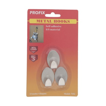Profix Metal Hook Oval Small Stainless Steel  # 1352
