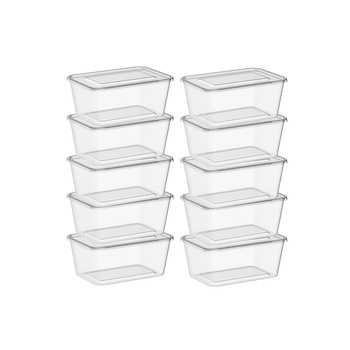 Samar Microwave Container Rectangular 1000cc With Lid