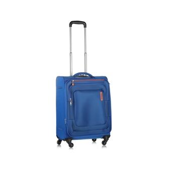 American Tourister Soft Luggage 4  Wheels Trolley Set -Bricklane 55 Cm Blue Spinner