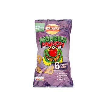 Walkers Monster Munch Pkld Onion 6x22g