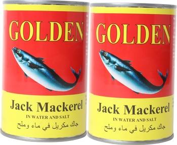 Golden Jack Mackerel Wtr In Salt 2 x 400g