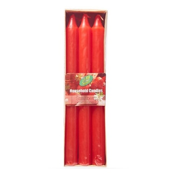 Samar Taper Candle 6Pc Red-Strawberry