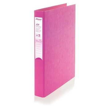 Rexel Joy 2D Ring Binder 25mm Pink