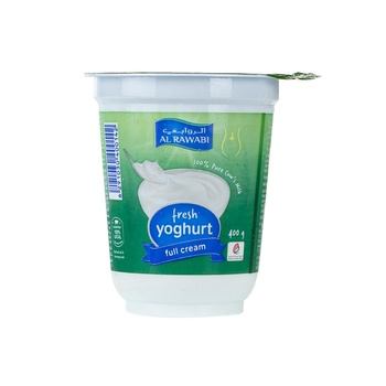 Al Rawabi Plain Yoghurt Full Cream 400g
