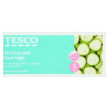 Tesco Reseal Food Storage Bags Small 25S