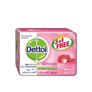 Dettol Skin Care Anti Bacterial Bar Soap 4X165g @ 35% Off