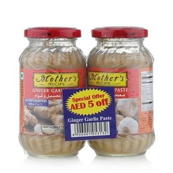 Mothers Recipe Ginger Garlic Paste 300g Pack of 2