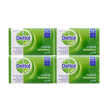 Dettol Bar Soap Original 4 x 120 gms (2+2 Free)