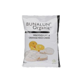 Bunalun Organic Mini Yoghurt & Orange Rice Cakes 60g