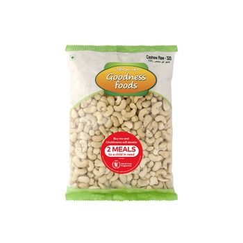 Goodness Foods Cashew Raw 320 200g