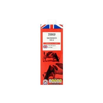 Tesco British Skimmed Milk 1 ltr