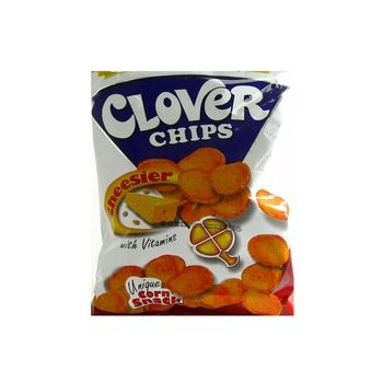 Leslies Clover Chips Cheesier 85g
