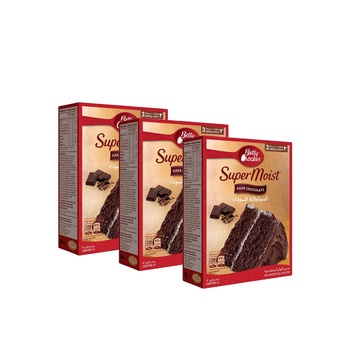 Betty Crocker Super Moist Dark Chocolate 3X510g