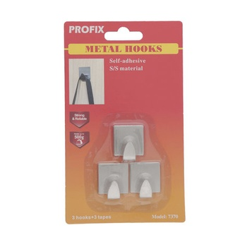 Profix Metal Hook Square  Stainless Steel - S # 1370