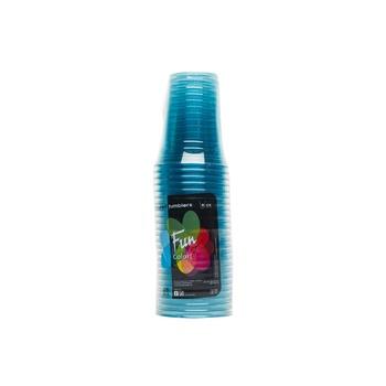 Al Bayader Clear Cups - Blue 8Oz  25s pack