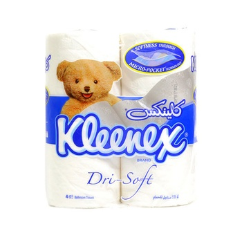 Kleenex Bathroom Tissue Dri-Soft 122 X 106mm 4pcs