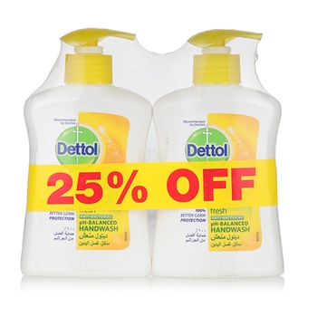 Dettol Fresh Handwash 2 x 200 ml @ 25% Off