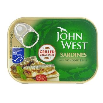 John West Grilled Sardines No Added Brine 100g