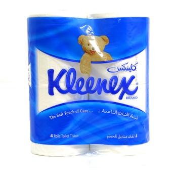 Kleenex Toilet Tissue 122 X 106mm White 4pcs