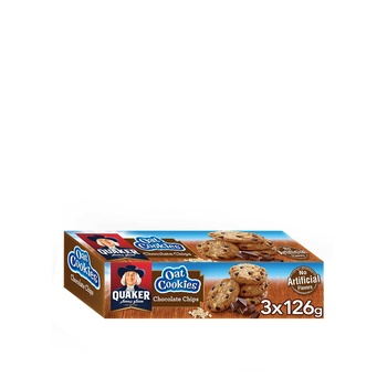 Quaker Oat Cookies Chocolate Chips 126g 2+1