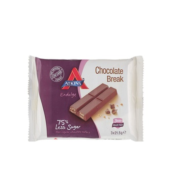 Atkins Endulge Chocolate Break Bar 3X21.5g