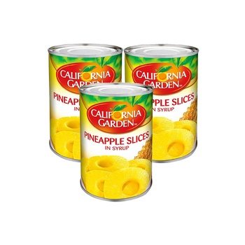 California Garden Pineapple Slices in Syrup565g Pack of 3