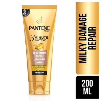 Pantene Pro-V 3 Minute Miracle Milky Damage Repair Conditioner + Mask 200 ml