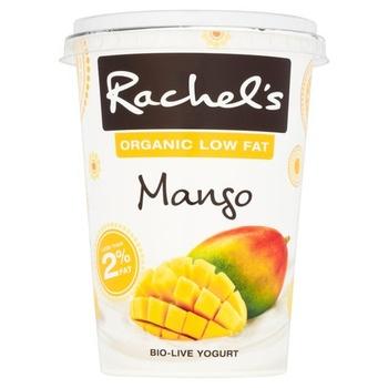 Rachels Organic Low Fat Mango Bio-Live Yoghurt 450g
