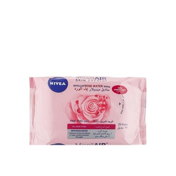 Nivea Face Micellair Rose Water Wipes 25s