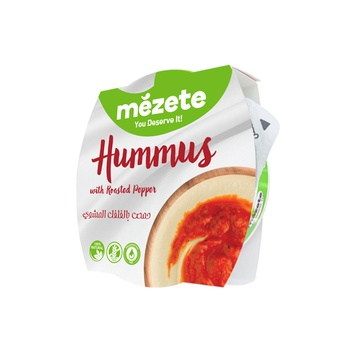 Mezete Hummus With Roasted Pepper 215g