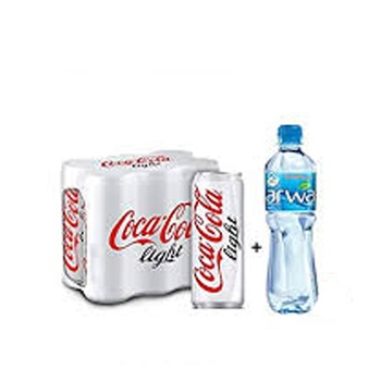 Coca-Cola Light 6 x 330ml Cans + Arwa Water 6 x 500ml Free
