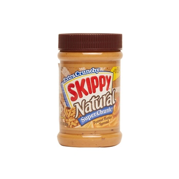 Skippy peanut butter natural super chunky 15oz