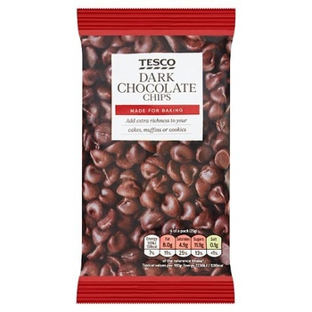 Tesco Dark Chocolate Chips 100g