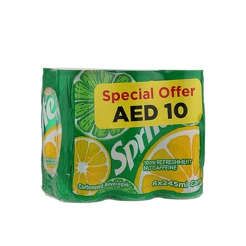 Sprite 6 x 245ml Can @ 10 aed