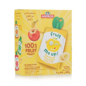 Andros Fruit Me Up Apple Banana 4*90g