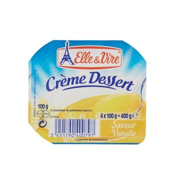 Elle & Vire Cream Dessert Vanilla  125g