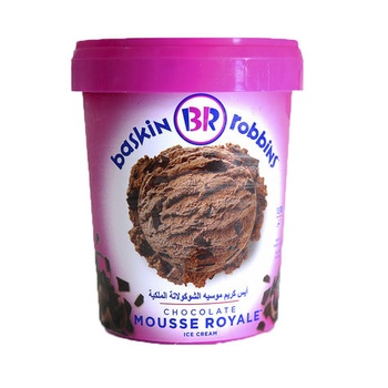 Baskin Robbins Chocolate Mousse Royale Ice Cream 1ltr