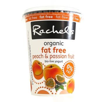 Rachel's Organic Low Fat Bio Live Peach & Passion Fruit Yoghurt 450g