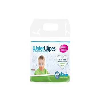 Water Wipes - Baby Wipes Soapberry Value Pack 4 x 60 Sheets