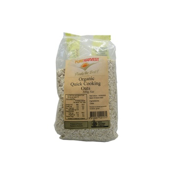 Pureharvest Organic Quick Cooking Oats 500g