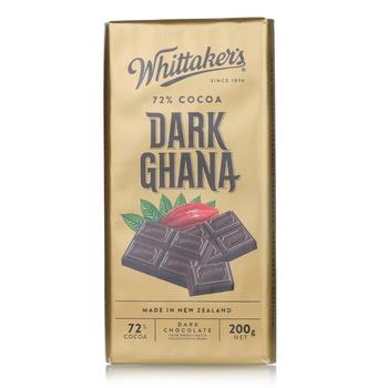 Whittakers Dark Chocolate 72% Cocao Ghana Bar 200 g