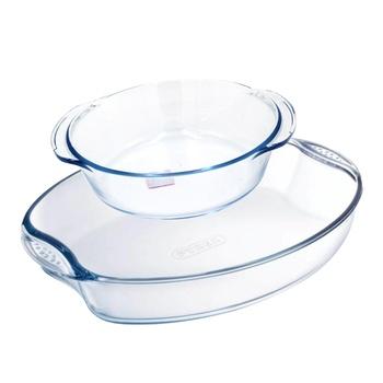 Glass Baking Tray 2 Pcs Set