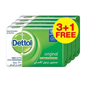 Dettol Original Anti bacterial Bar Soap 165g Pack of 4 @ 35% Off