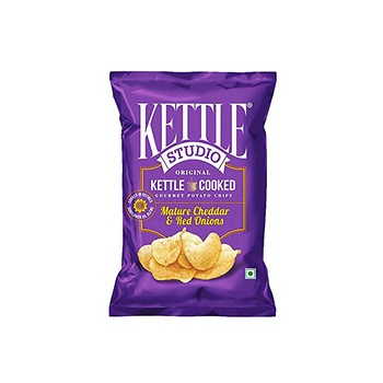 Kettle Studio Mature Cheddar Red Onion 125g