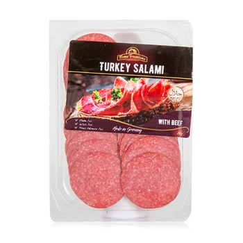 Russian Turkey Salami With Beef In Slices