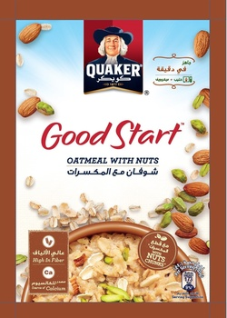 Quaker Good Start Oatmeal Nuts 40g